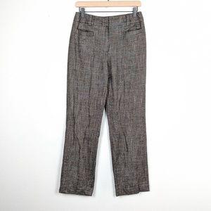 Carlisle Wool Blend Plaid Trousers Size 6